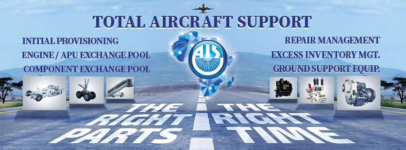 AIS Total Aircraft Support - Engine/APU Exchange Pool, Component Exchange Pool, Aircraft Repair Management Services